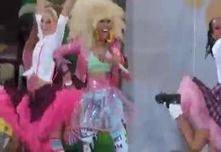 Nicki Minaj Nipple Slip on Good Morning America view on ebaumsworld.com tube online.