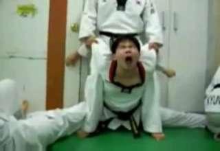 Painfull Karate Stretch - Video | eBaum's World