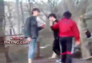 Russian Guy Fights Five Emo Kids view on ebaumsworld.com tube online.
