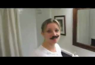 girl pranked into wearnig pube moustache view on ebaumsworld.com tube online.
