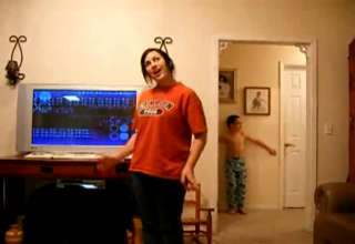 Little Brother Video Bombs Sister Dancing view on ebaumsworld.com tube online.