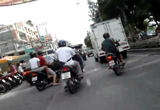 Normal traffic etiquette in Thailand view on ebaumsworld.com tube online.