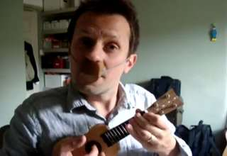 James Bond theme played with nose flute and mini ukulele. view on ebaumsworld.com tube online.