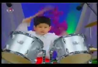 Funny North Korean Kids Playing Drums view on ebaumsworld.com tube online.
