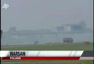 Plane Lands in Poland Wheels Up view on ebaumsworld.com tube online.