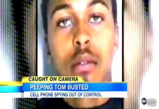 Cell Phone Peeping Toms On The Rise view on ebaumsworld.com tube online.