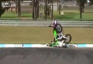 Devastating Motocross FACEPLANT!!