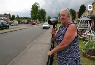 hilarious grandma shows speeders whats up