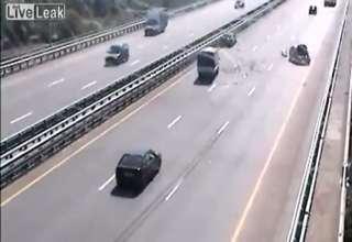 Car Stuck On Freeway Fail view on ebaumsworld.com tube online.