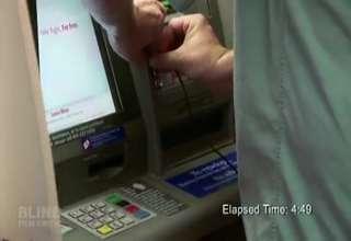 Blind Man vs.The ATM view on ebaumsworld.com tube online.