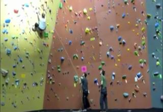Girl Vs Rock Climbing Wall Fail