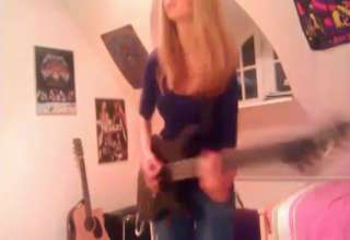 Master of Puppets - Metallica guitar cover by Cissie incl. Kirk view on ebaumsworld.com tube online.