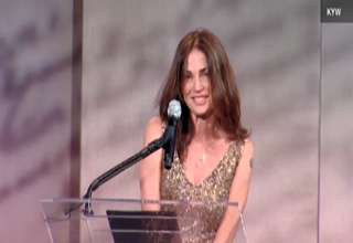 Kim Delaney's awkward speech at the Liberty Medal ceremony view on ebaumsworld.com tube online.
