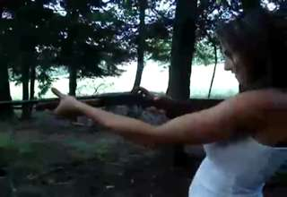 My first time Shooting a 20 gauge shotgun view on ebaumsworld.com tube online.