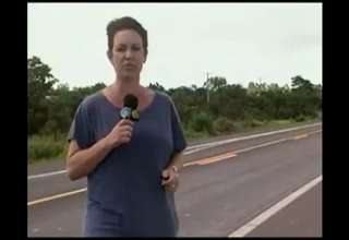 Reporter Narrowly Escapes Getting Hit By A Truck view on ebaumsworld.com tube online.