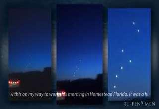 UFO's over Homestead, USA, Feb.16, 2012,enhanced  zoomed. view on ebaumsworld.com tube online.