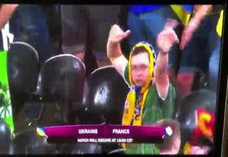 Ukraine Fan shows his Funny dance moves view on ebaumsworld.com tube online.