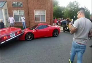 Guy Crashes Car Filming Door Opens