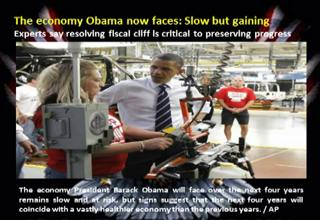 The economy Obama now faces: Slow but gaining