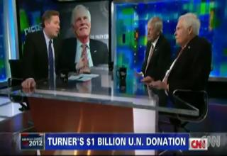 Ted Turner talks New World Order, World Courts, and Troop Suicid view on ebaumsworld.com tube online.