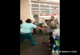 Fat chick Goes Crazy In Walmart