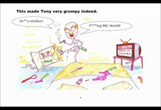 Tony the Drugs Mule - Cartoon from the UK