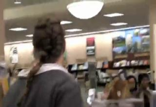 CRAZY LADY FLIPS OUT IN BOOK STORE....