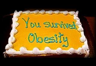 ironic obesity cake