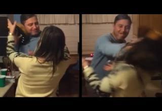 cake smash backfires in wife's face