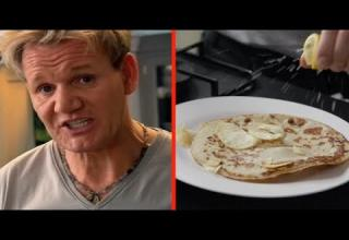 gordon ramsay and a plate of pancakes