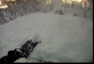 Snowboarder Almost Dies In An Avalanche