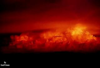 Sunset after Australia monsoon