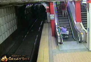 wheelchair meets escalator ebaum s world