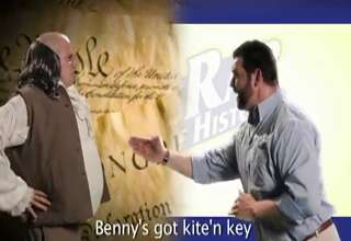 Epic Rap Battles of History Ben Franklin Vs. Billy Mays. view on ebaumsworld.com tube online.