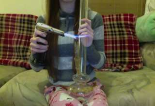 Cute Girl Smokes Like a Boss