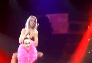 Britany Spears gives fan a lap Dance... view on ebaumsworld.com tube online.