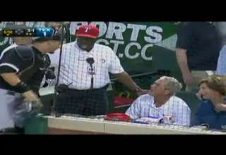 Former President George W. Bush Nearly Dodges Baseball At Game view on ebaumsworld.com tube online.