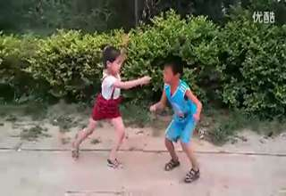 Chinese Father Forces 7 Yr Old Daughter And Nephew To Fight view on ebaumsworld.com tube online.