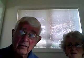 Adorable Older Couple Webcam Shenanigans view on ebaumsworld.com tube online.