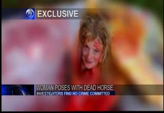 Strange News Report About Naked Woman Inside A Dead Horse Carcass view on ebaumsworld.com tube online.