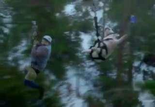 Geico Commercial Ziplining Pig Screams Wee Video Ebaums World