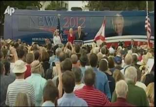 Newt Gingrich Heckled During Speech In South Florida view on ebaumsworld.com tube online.