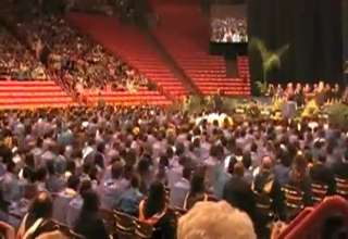 Eastwood High School Graduates Flash Mob Dance During Graduation Ceremony view on ebaumsworld.com tube online.