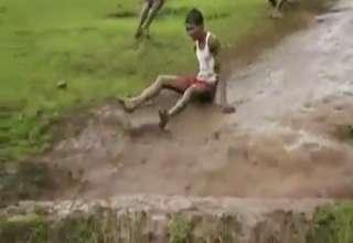 Indian Slip 'N Slide view on ebaumsworld.com tube online.