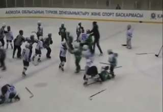 9YR Old Hockey Fight view on ebaumsworld.com tube online.