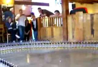 World's Longest Boilermaker Domino Chain
