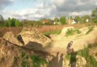 BMX Backflip Landing Fail