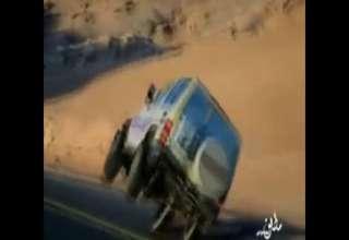 Amazing Saudi on 2 wheels driving SUV