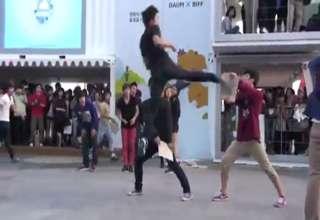 Korean Shuffle And Martial Arts Demonstration.