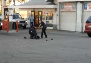 Female officer Literately beats the shoes off a criminal view on ebaumsworld.com tube online.